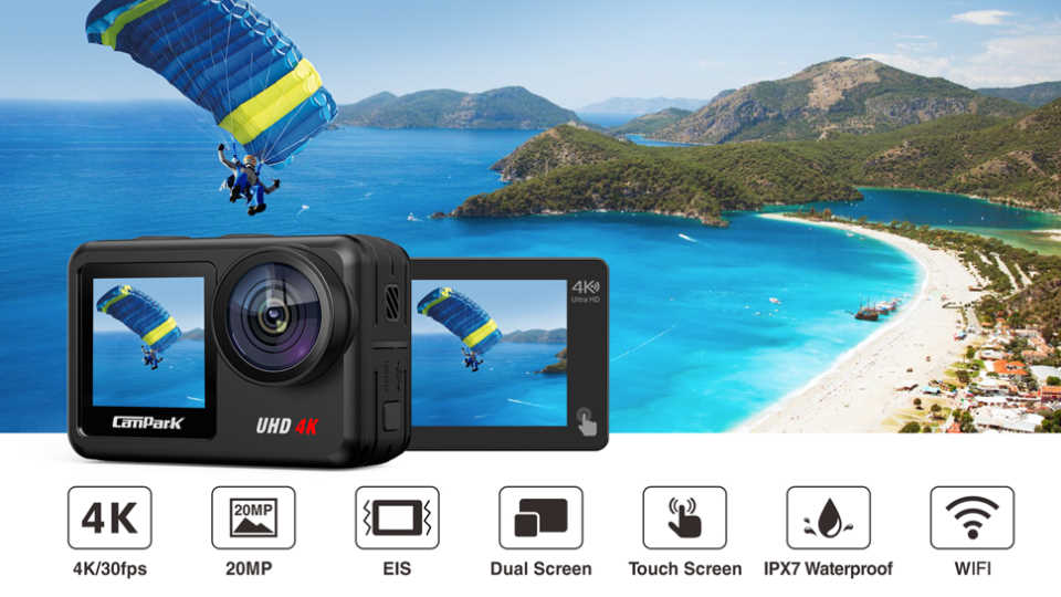 Campark V40 Action Camera Features