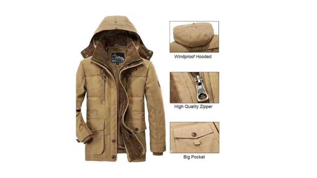 Thick Fleece Winter Coat for Men Review
